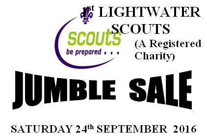 Lightwater Scouts Jumble Sale September 2016
